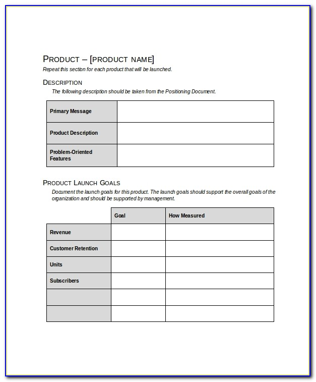 Product Launch Marketing Strategy Template