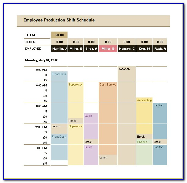 Production Planning Excel Template Free Download