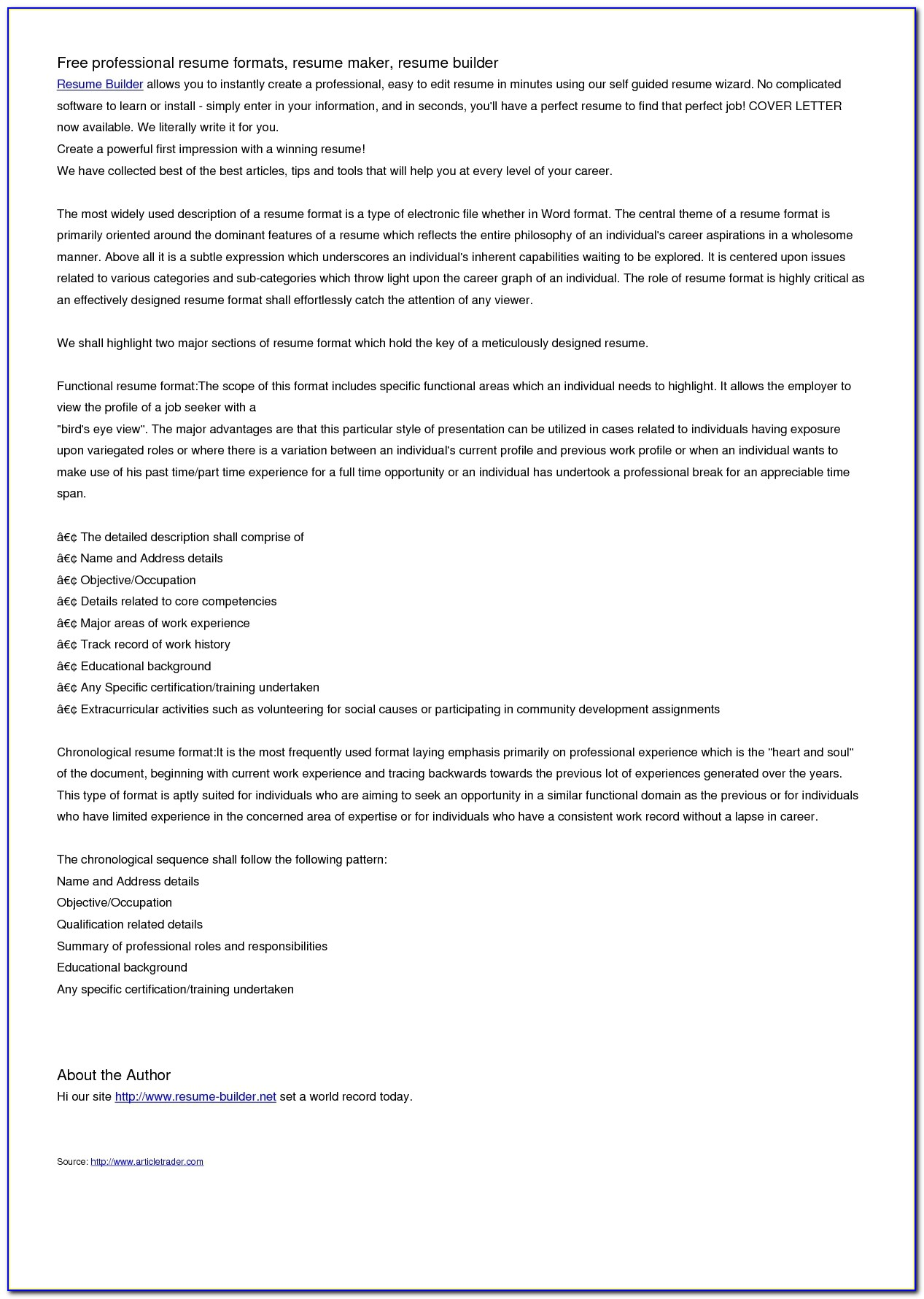 Healthcare Resume Builder Resumes Template Free Resume Templates