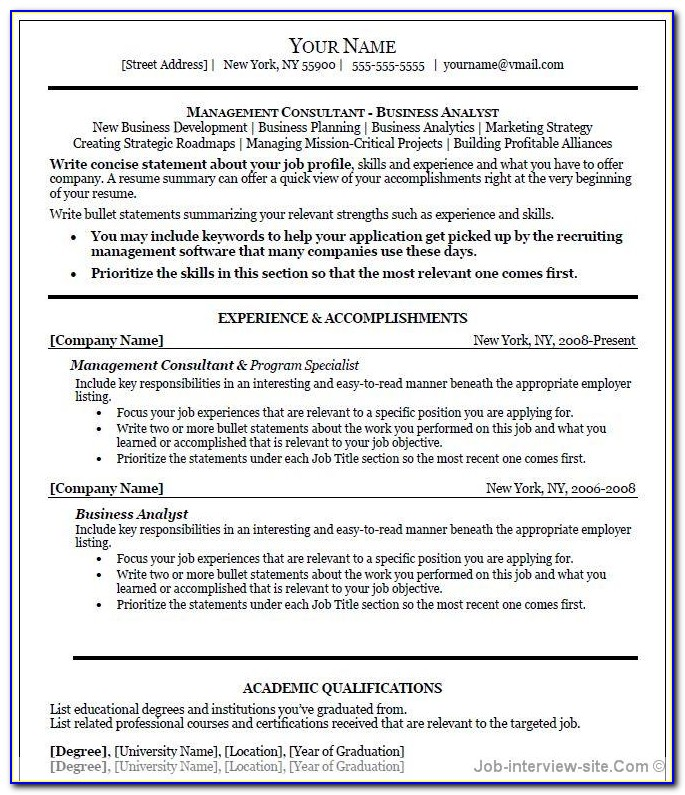 Professional Resumes Samples Pdf