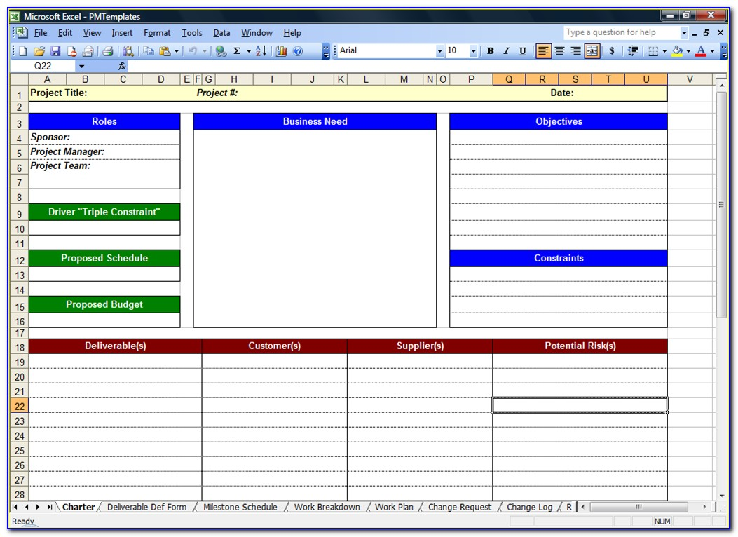 Project Management Spreadsheet Templates