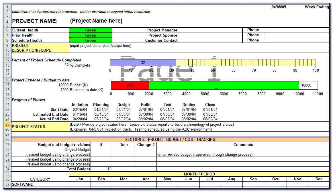 Project Status Report Template In Excel Project Status Report Template Excel
