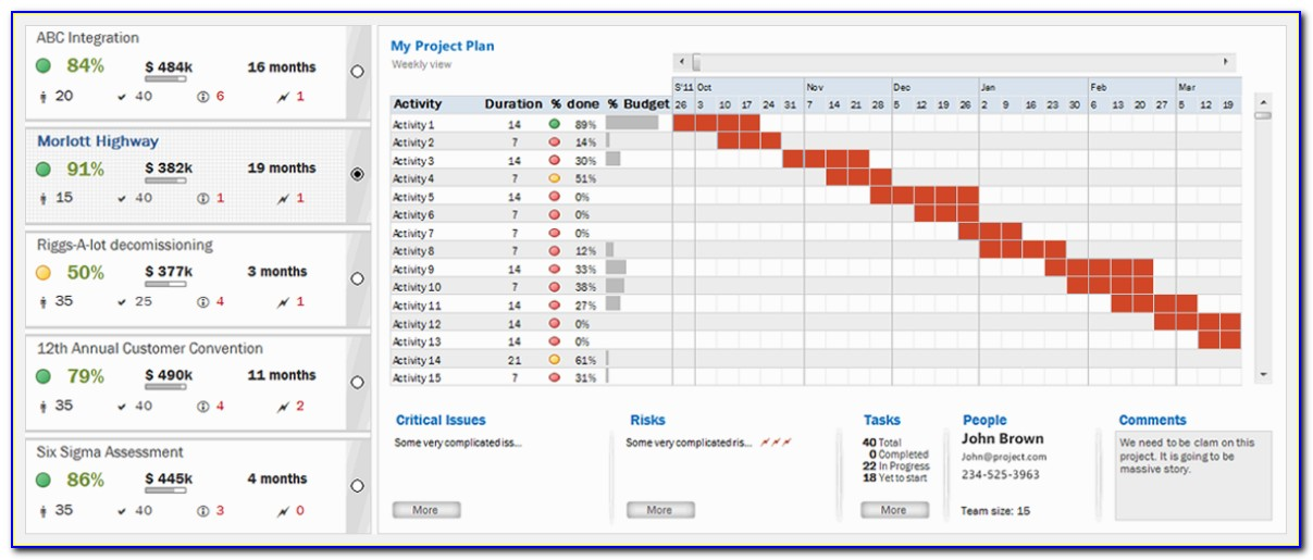 Project Task Tracker Excel Template Free