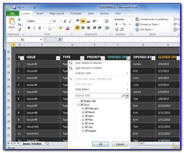 Project Tracker Excel Template Free