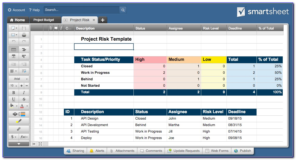 Project Tracking Excel Template Download