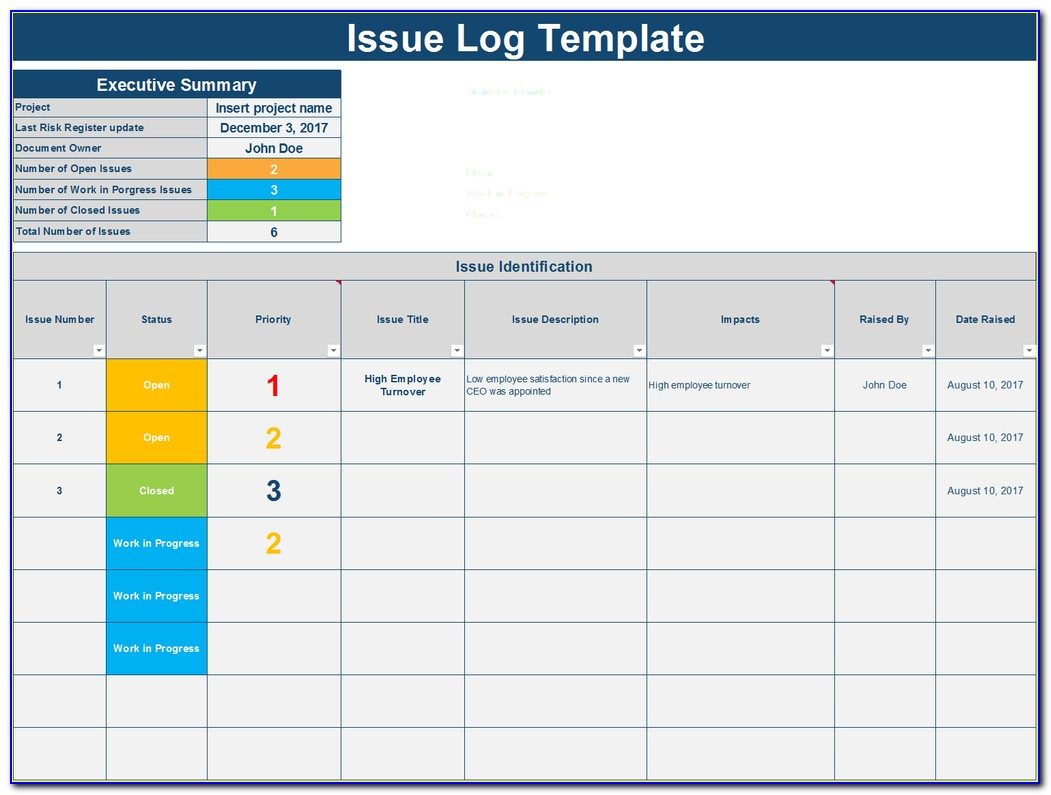 Project Tracking Excel Template Xls