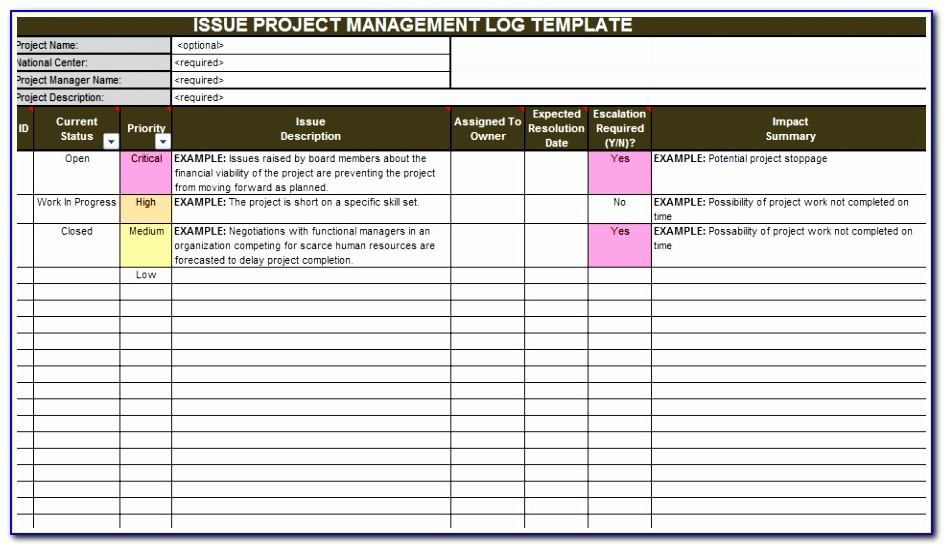 Download Economic Impact Analysis Template Printable Project Management Issue Log Template Lovely Doc Xls Letter Templates Purut