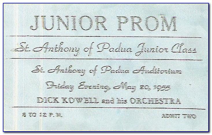 Prom Ticket Template Free