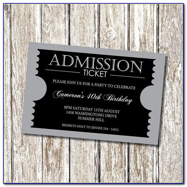 Prom Ticket Template Publisher