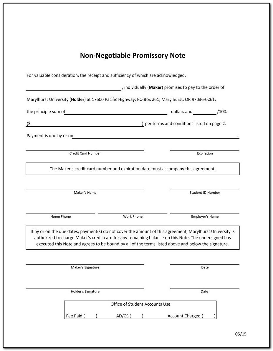 Promissory Note Template India