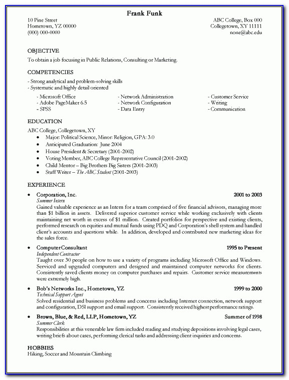 Resume Examples Templates: Free 2015 College Resume Examples For Pertaining To Correct Way To Write A Resume