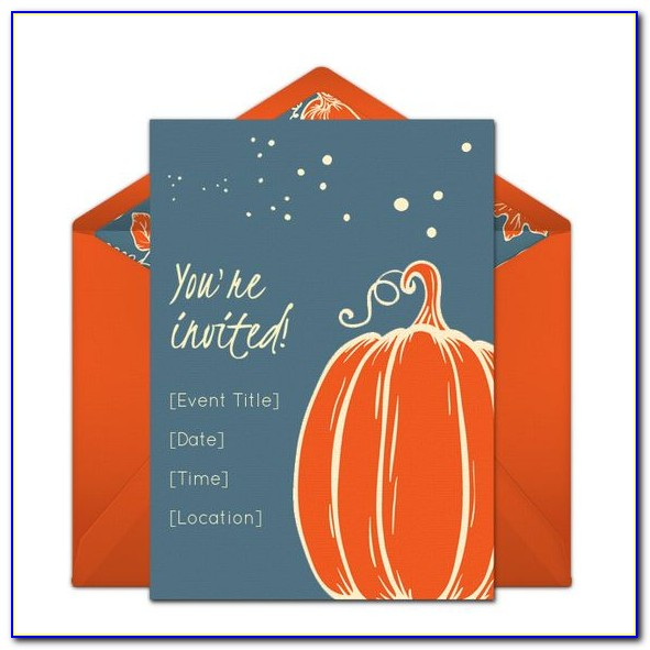Pumpkin Birthday Party Invitation Template