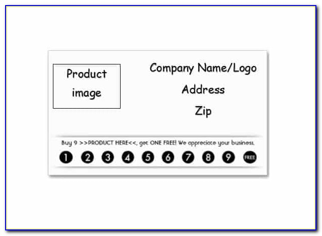 Punch Card Template Excel