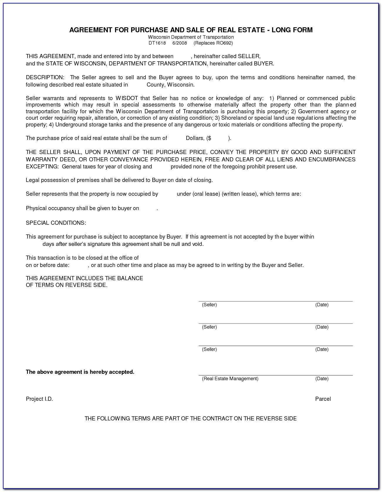 Purchase Agreement Template Free