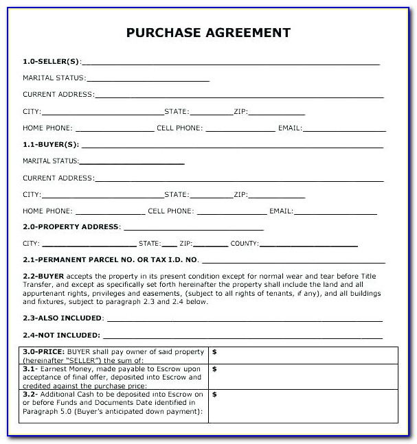 Purchase Order Financing Agreement Template