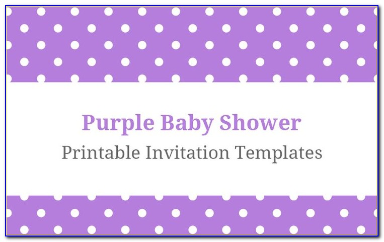 Purple And Gold Baby Shower Invitations Templates