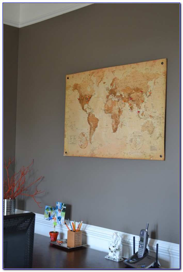 Putting A Map On Cork Board
