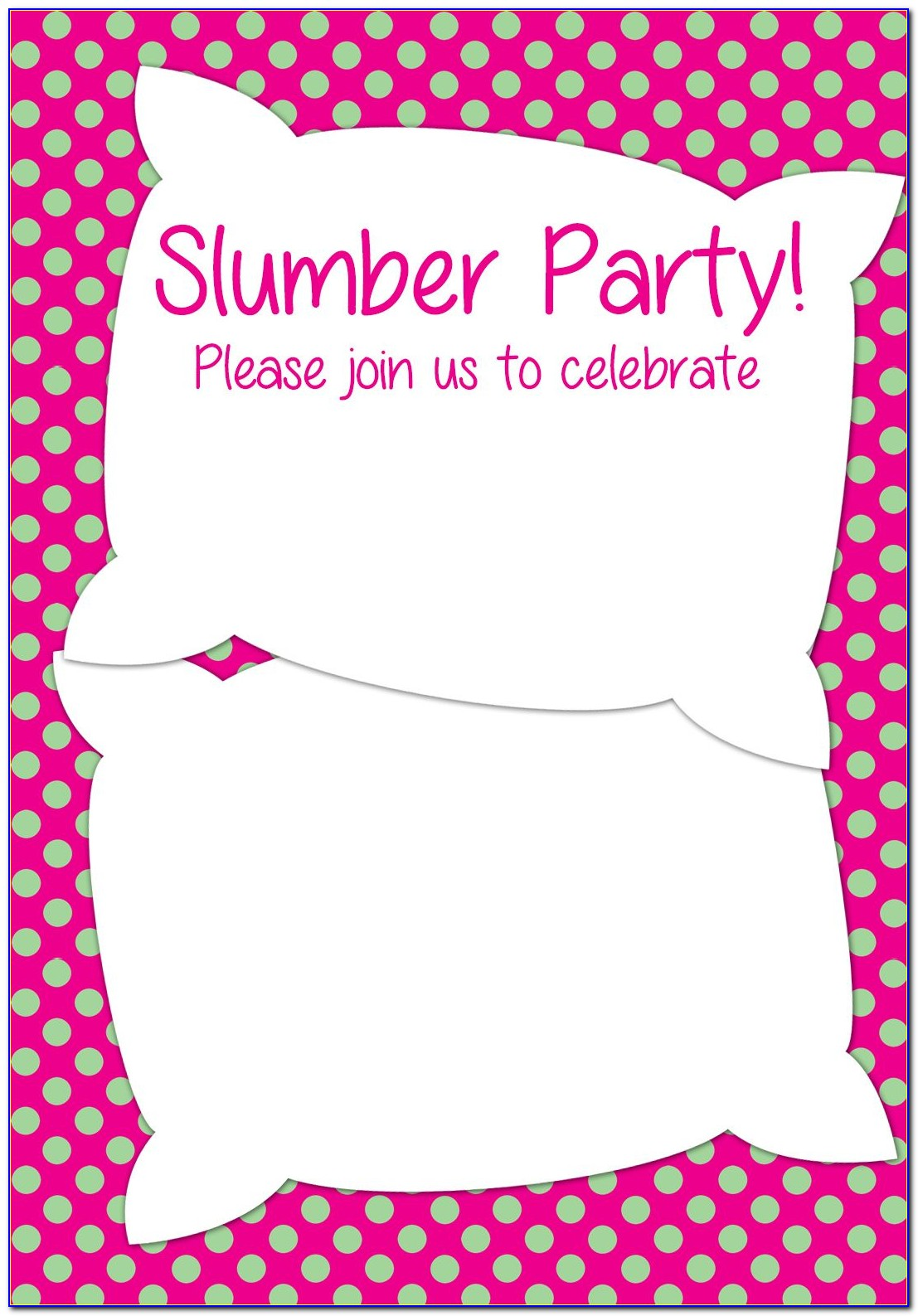 Pyjama Party Invitation Cards