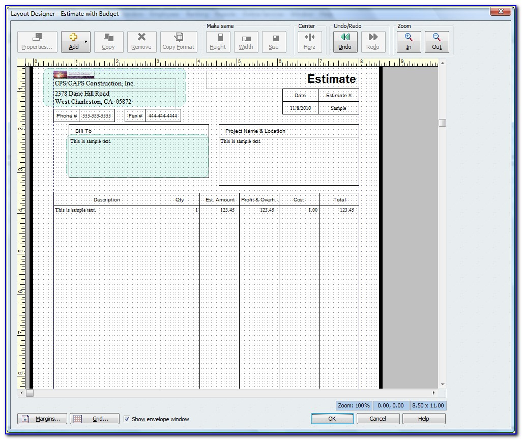 Quickbooks Estimate Templates