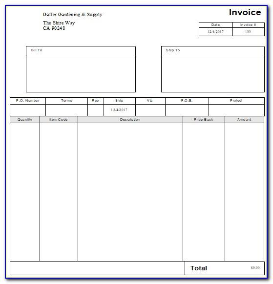 Quickbooks Invoice Template Edit