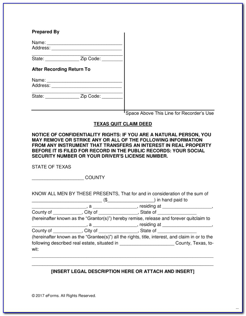 Quit Claim Deed Form Adams County Colorado