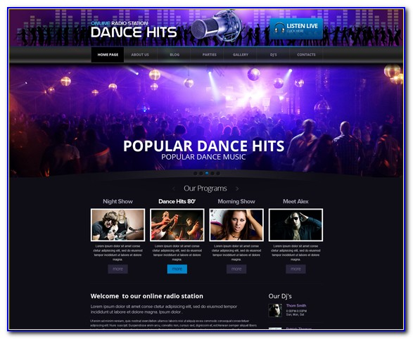 Radio Station Website Template Free Download