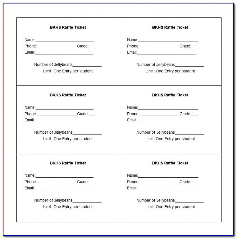 Raffle Ticket Template Free Templates | Free & Premium Templates With Regard To Raffle Ticket Template Word