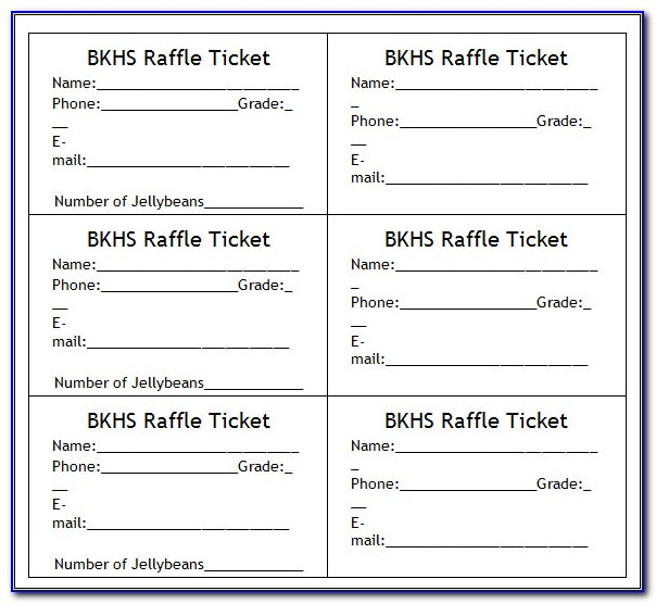 Raffle Tickets Templates Free Download