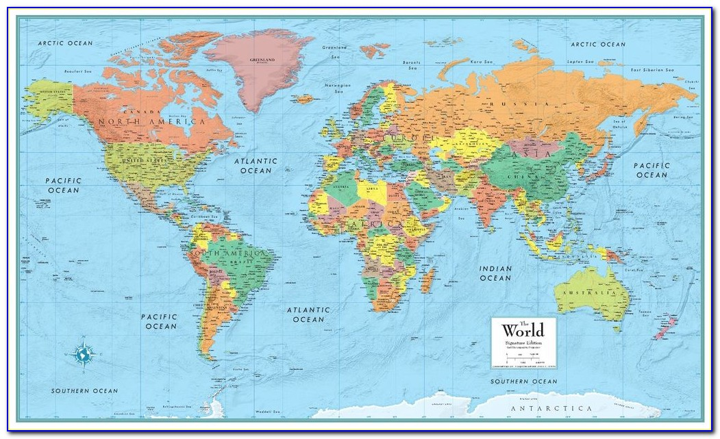 Rand Mcnally World Map Poster