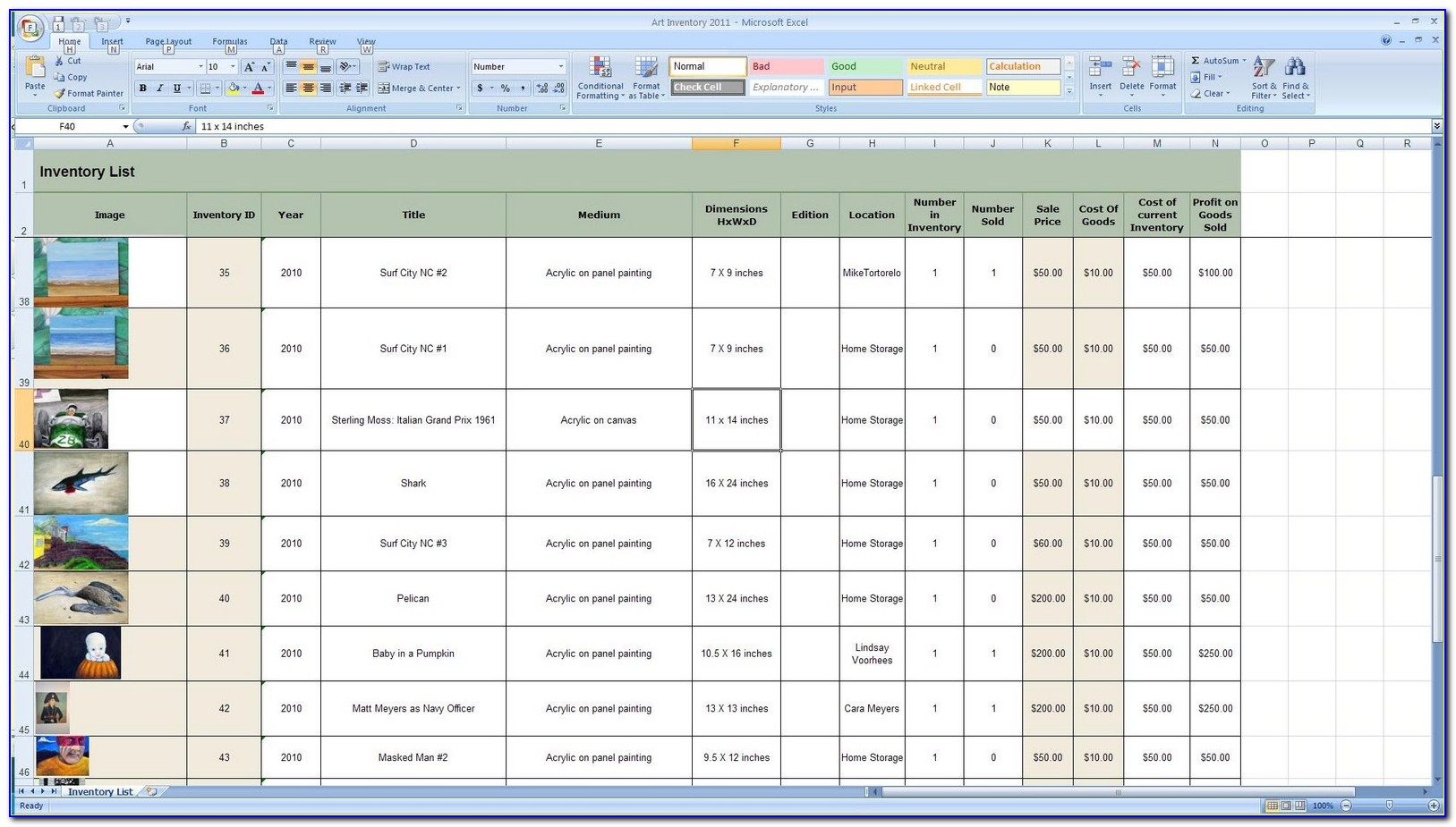 Ready To Use Excel Inventory Management Template Free Download