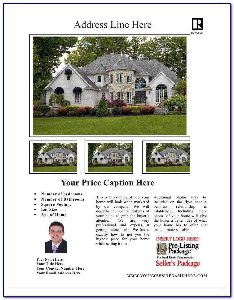 Real Estate Listing Flyer Templates