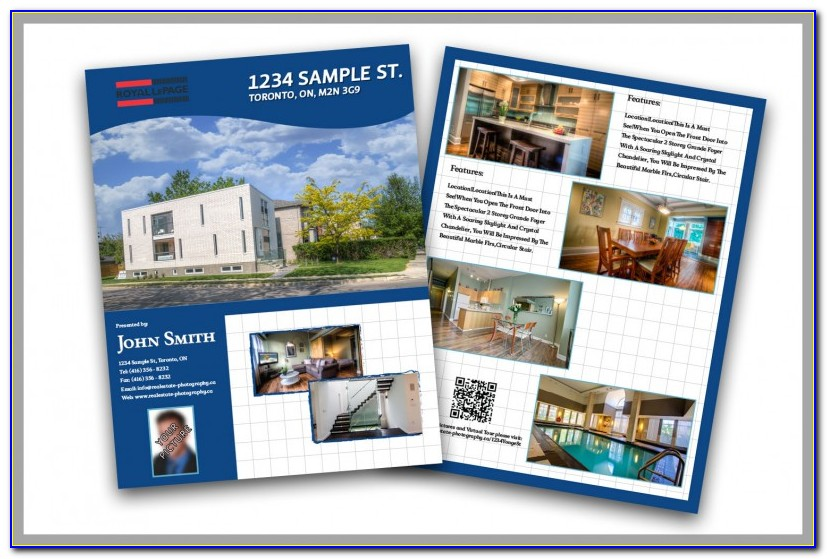 Realtor Feature Sheet Template Free