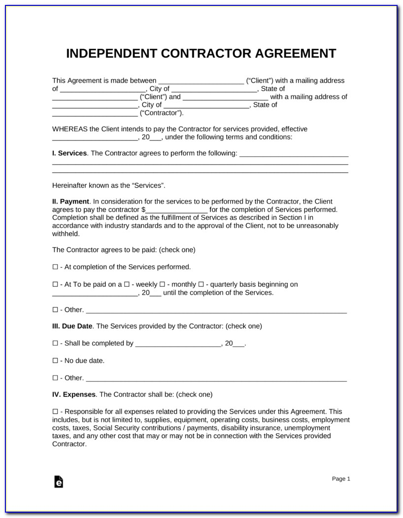 Realtor Independent Contractor Agreement