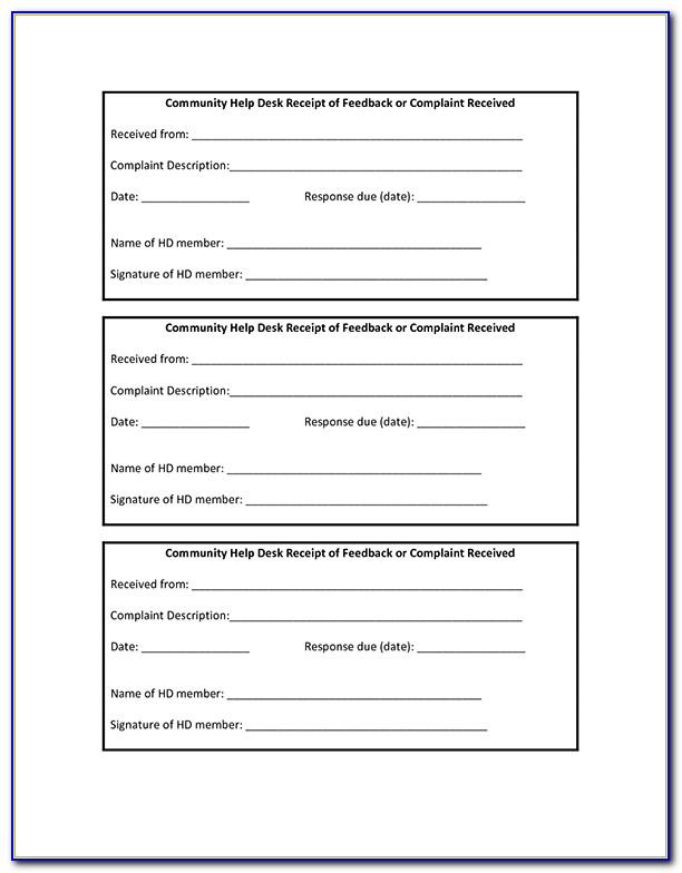 Receipt Book Template Free Download