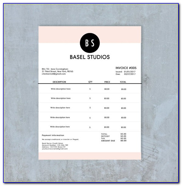 Receipt Book Template Pages