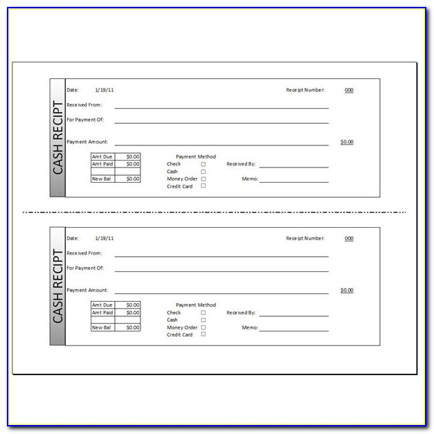 Receipt Template Free Download Word