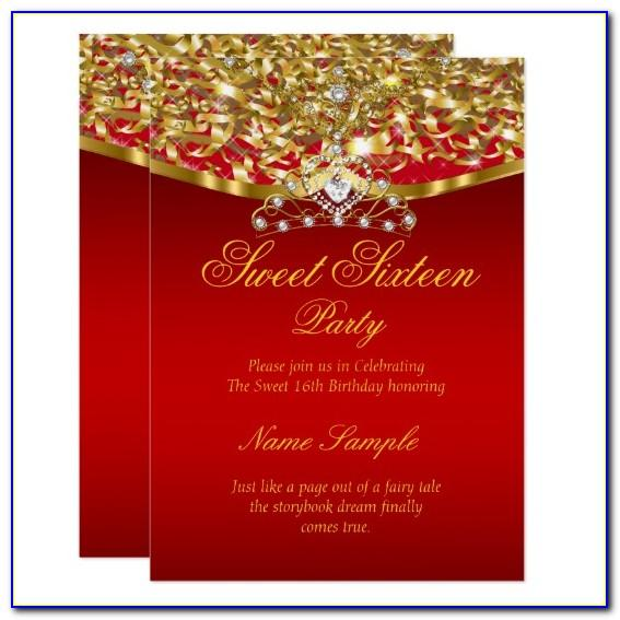 Red Black And Gold Invitation Template