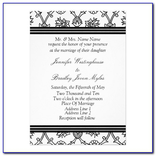 Red Black And White Wedding Invitation Templates