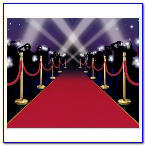 Red Carpet Backdrop Template