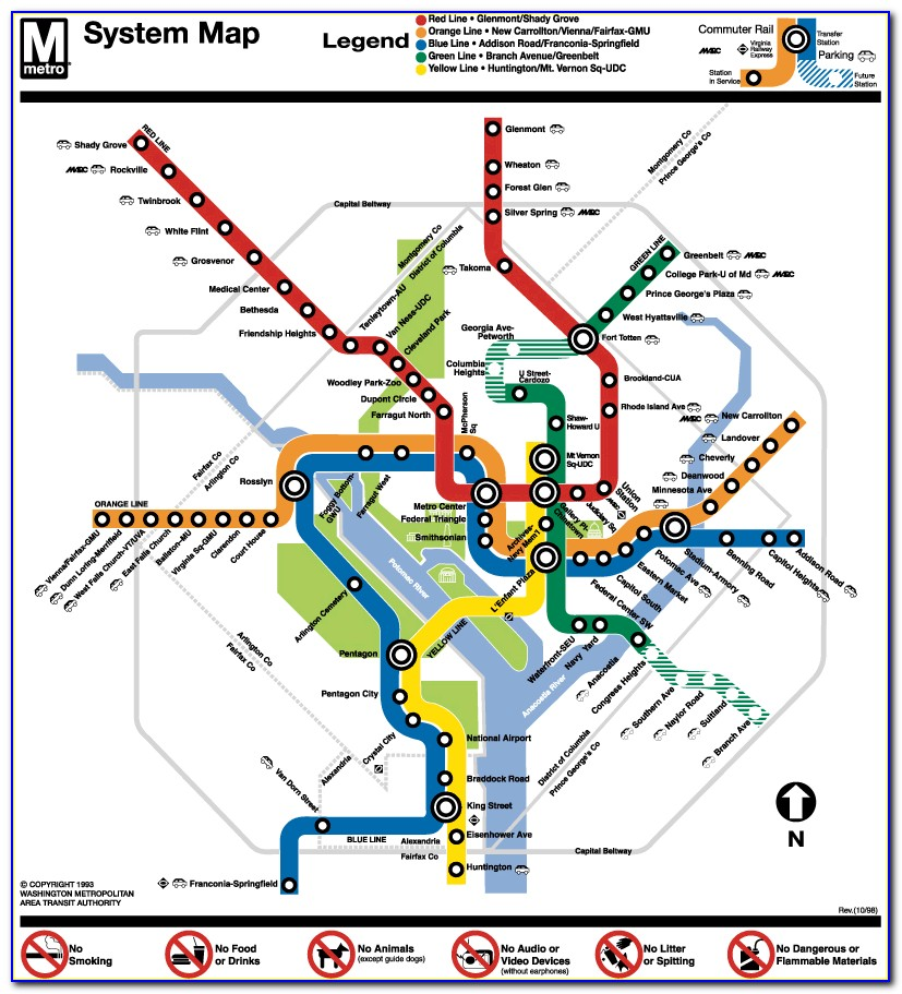Red Line Metro Map Wash Dc