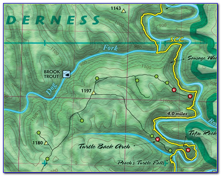 Red River Gorge Indian Staircase Trail Map