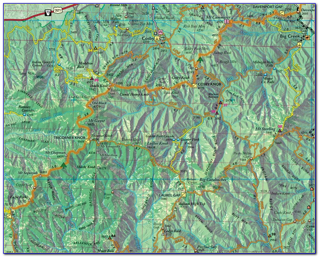 Red River Gorge Rough Trail Map