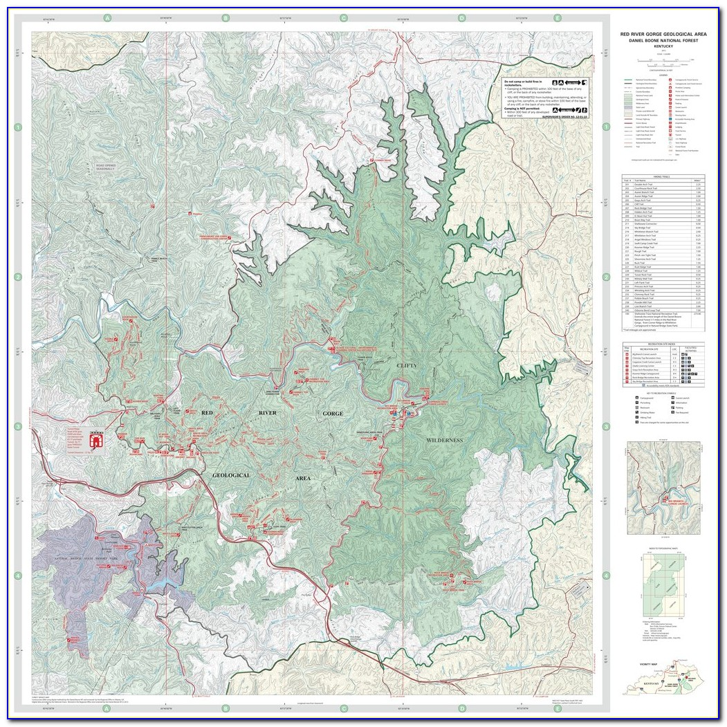 Red River Gorge Unofficial Trail Map