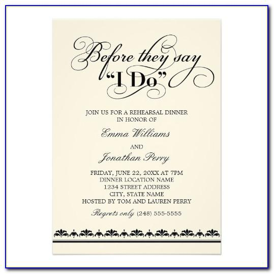 Rehearsal Dinner Invitations Template Free