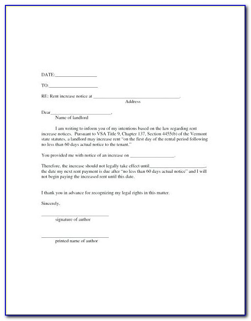 Rent Increase Forms Quebec