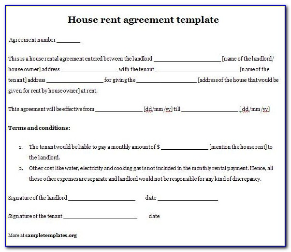 Rental House Agreement Template