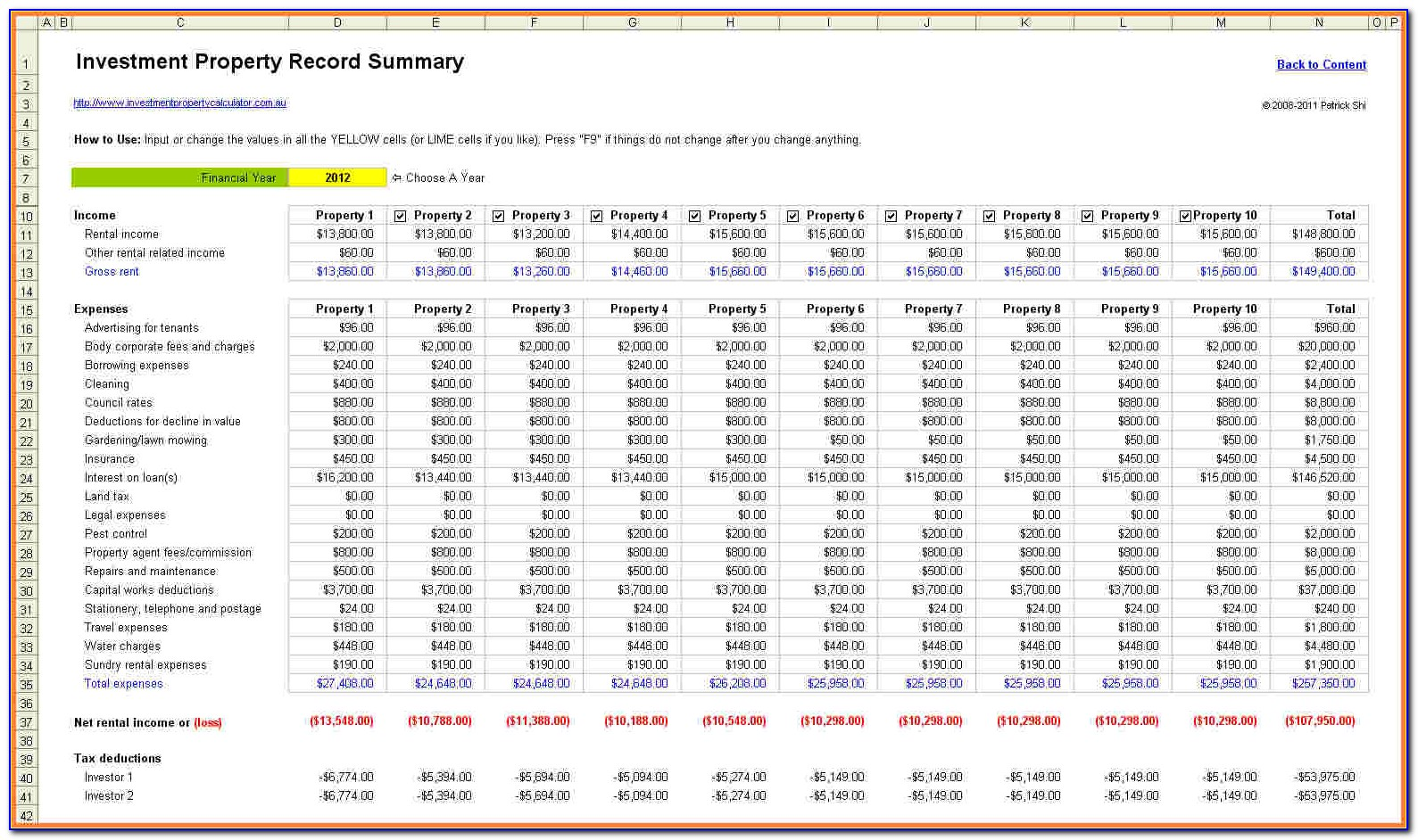 Rental Property Management Excel Template Free