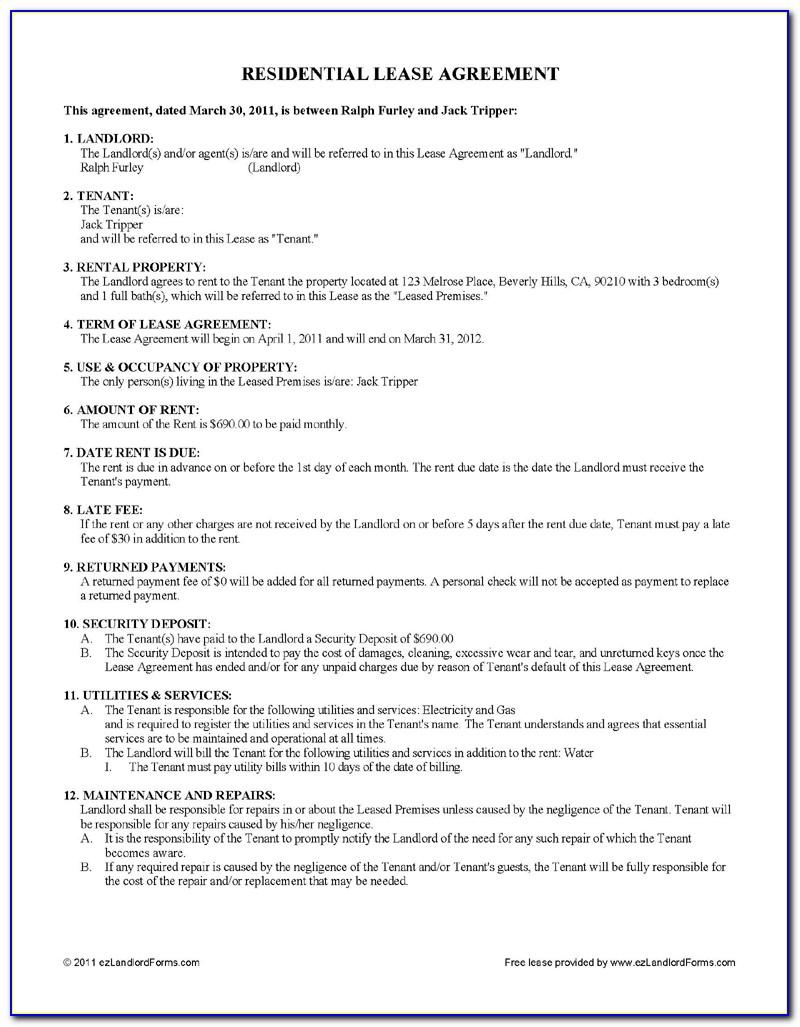Residential Lease Agreement Examples