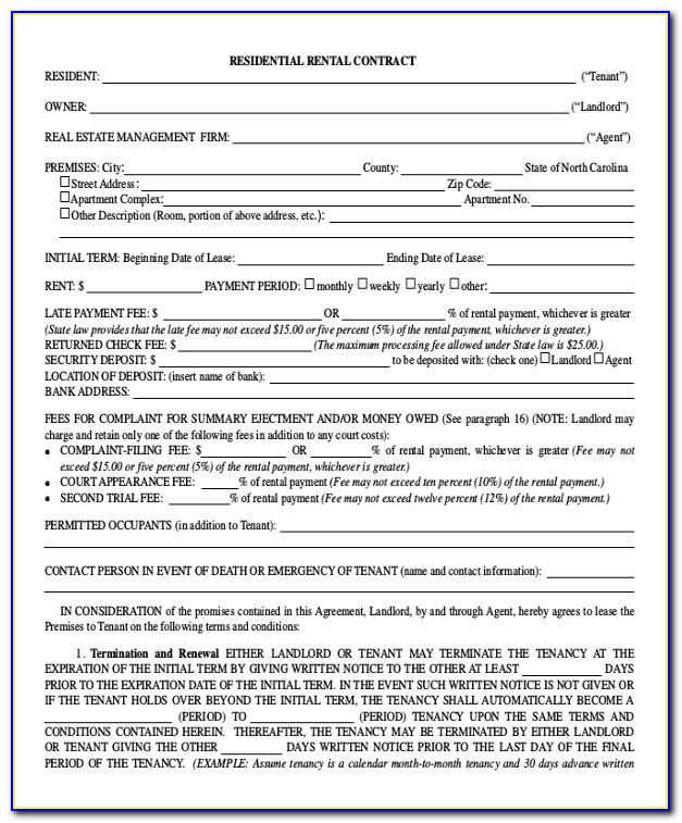 Residential Tenancy Agreement Template Bc