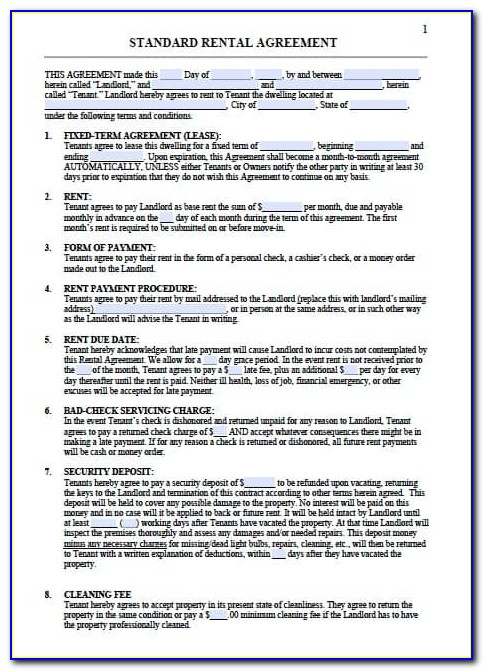 Residential Tenancy Agreement Template Nsw